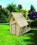 HTI-Line Spielhaus mit Sandkasten und Sonnendach Sven Gartenhaus NEU OVP