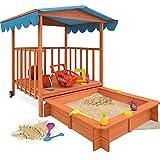 Sandkasten Dach XL Kinder Spielveranda Spielhaus Sandbox Spielveranda Holz Spielhaus Sonnenschutz Deckel Sandbox UV-Schutz 50